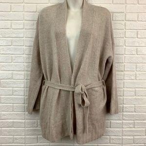 Autumn Cashmere belted kimono cardigan 100% beige